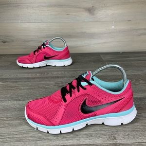 Pink Nike Flex Experience RN 2 running shoes